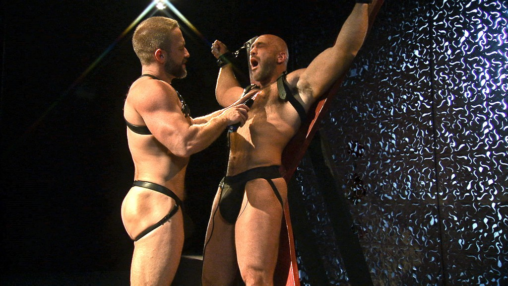 Dirk Caber and Jesse Jackman in TitanMen's Loud and Nasty -- the scene that Jesse's mom found online.